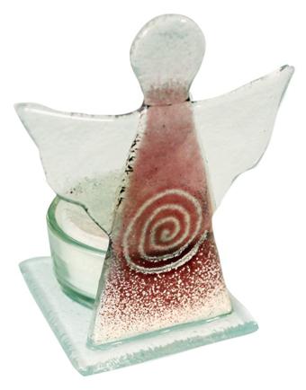 buchmaxx engel aus glas mit teelicht. Black Bedroom Furniture Sets. Home Design Ideas